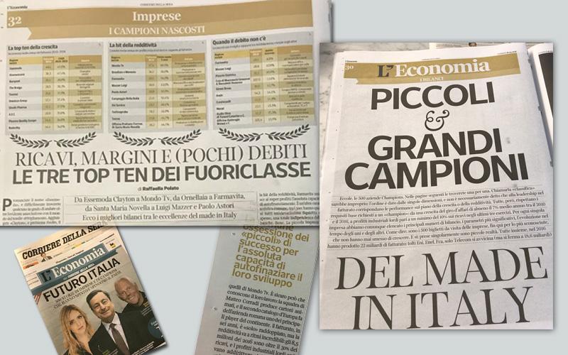 Supplemento Economia Corriere della sera_Mondo TV